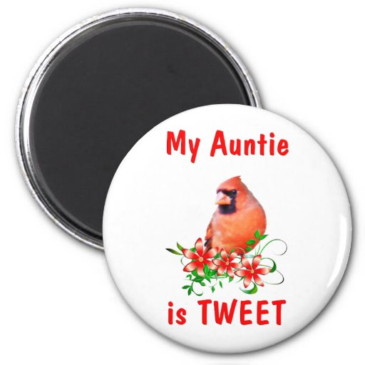 Auntie is Sweet 2 Inch Round Magnet