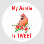 Auntie is Sweet Round Stickers