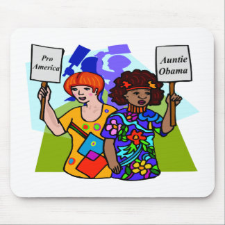 Auntie Obama Mouse Pad