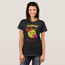 Auntie of the Birthday Girl Emoji Birthday Party T-Shirt