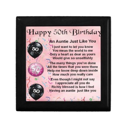 Auntie Poem - 50th Birthday Gift Box