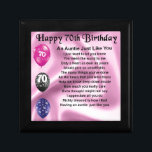"""Auntie Poem - 70th Birthday Keepsake Box<br><div class=""""desc"""">A great gift for a special auntie on her 70th birthday</div>"""