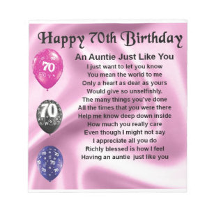 Aunts 70th Birthday Gifts On Zazzle