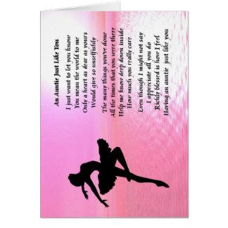Auntie Poem - Ballerina Card