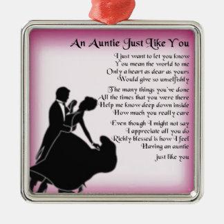 Auntie Poem - Ballroom Dancers Design Metal Ornament