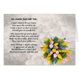 Auntie Poem - Flowers Design Card
