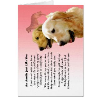 Auntie Poem - Golden Retriever design Card