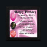"Auntie Poem -  Happy Birthday Keepsake Box<br><div class=""desc"">A great gift for an auntie on her birthday</div>"