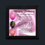 """Auntie Poem -  Happy Birthday Keepsake Box<br><div class=""""desc"""">A great gift for an auntie on her birthday</div>"""