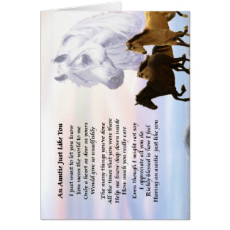 Auntie Poem Horses Card