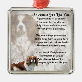 Auntie poem - King Charles Spaniel Metal Ornament