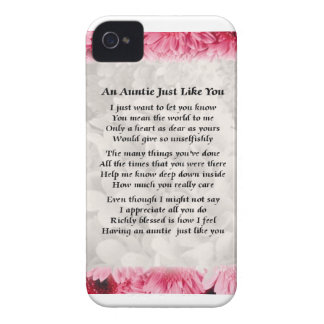 Auntie poem - Pink Floral design Case-Mate iPhone 4 Case