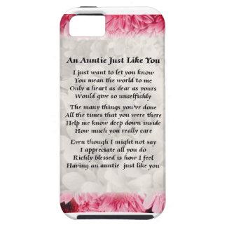Auntie poem - Pink Floral design iPhone SE/5/5s Case