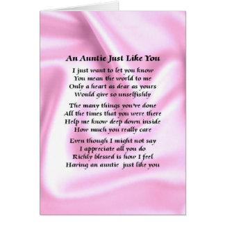 Auntie Poem Pink Silk Card