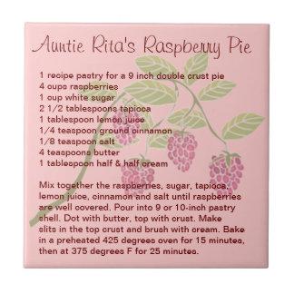 Auntie Rita's Raspberry Pie Ceramic Tile