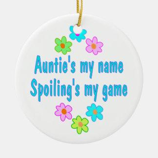 Auntie Spoils Ceramic Ornament