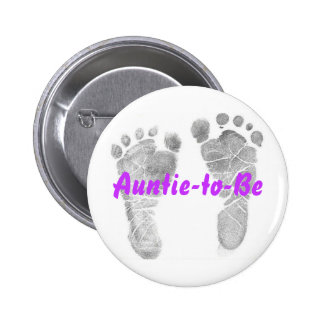 Auntie-to-Be 2 Inch Round Button