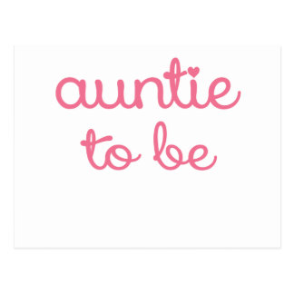 AUNTIE TO BE.png Postcard