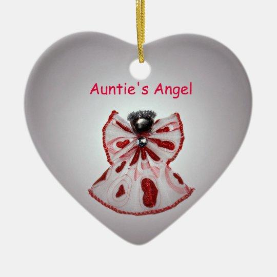 Auntie's Angel Ceramic Ornament