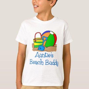 Beach Themed Auntie's Beach Buddy T-Shirt
