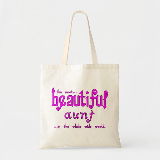 Aunties Birthdays Parties Christmas Beautiful Aunt Budget Tote Bag
