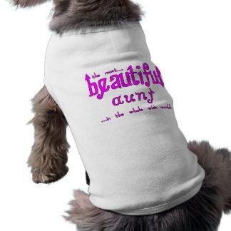 Aunties Birthdays Parties Christmas Beautiful Aunt Doggie Tee Shirt