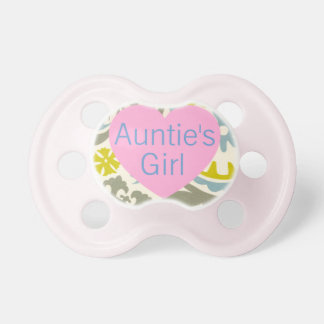 """Auntie's Girl"" Floral Baby Pacifier"