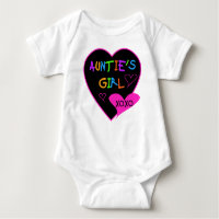 Aunties Girl t shirts, mugs, hats, and more Baby Bodysuit
