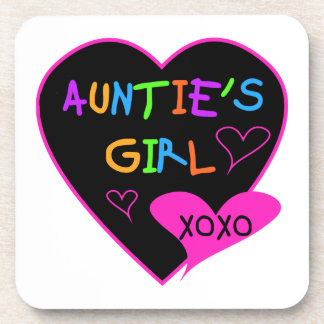 Aunties Girl t shirts, mugs, hats, and more Beverage Coaster