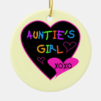 Aunties Girl t shirts, mugs, hats, and more Ceramic Ornament