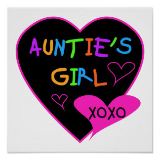 Aunties Girl t shirts, mugs, hats, and more Poster