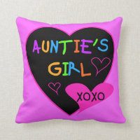 Aunties Girl t shirts, mugs, hats, and more Throw Pillow