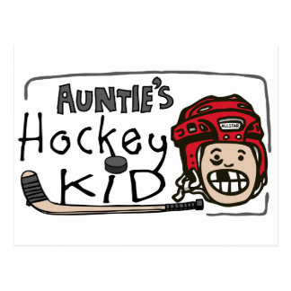 Auntie's Hockey Kid Postcard