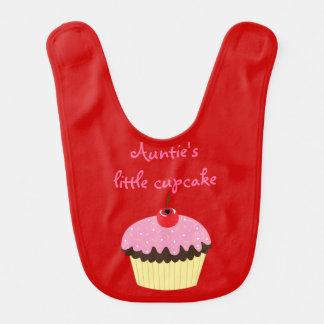 Auntie's little cupcake baby bib