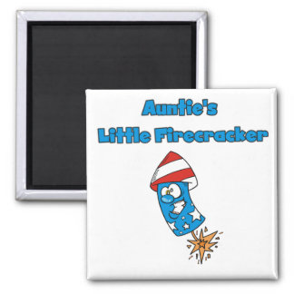 Auntie's Little Firecracker T-shirts and Gifts Refrigerator Magnet