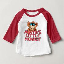 Auntie's Little Monkey Baby T-Shirt