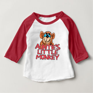 Auntie's Little Monkey Baby T-Shirt