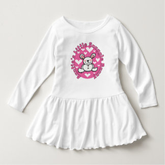 Auntie's Little Snuggle Bunny Toddler Ruffle Dress
