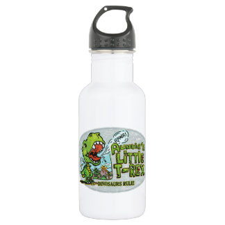 Auntie's Little T Rex Oval Water Bottle