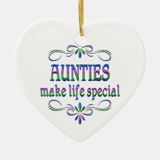 Aunties Make Life Special Ceramic Ornament