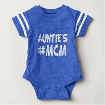 Auntie's MCM funny baby boy nephew Baby Bodysuit