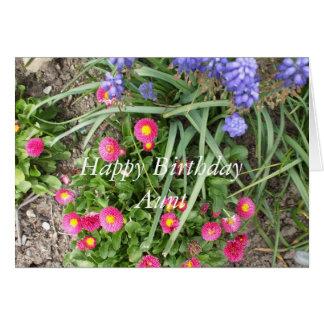 Aunt's Birthday-flower bed Card