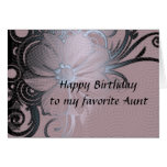 Aunt's birthday greeting card