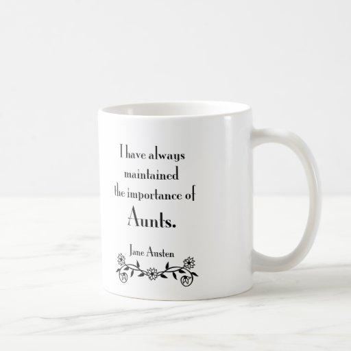 Aunts Classic White Coffee Mug