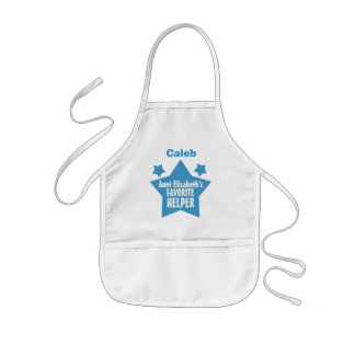 AUNT'S Favorite Helper with Name with STARS V10 Kids' Apron