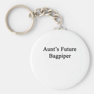 Aunt's Future Bagpiper Basic Round Button Keychain