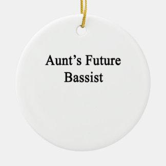 Aunt's Future Bassist Ceramic Ornament