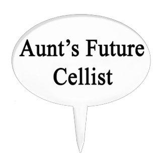 Aunt's Future Cellist Cake Topper
