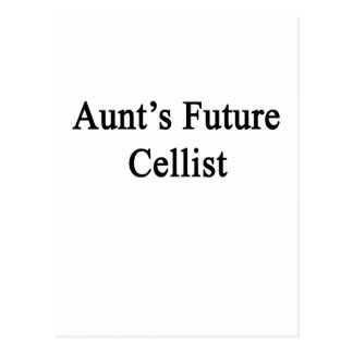 Aunt's Future Cellist Postcard