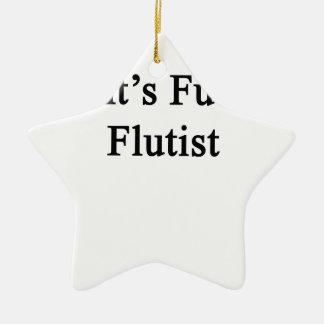 Aunt's Future Flutist Ceramic Ornament